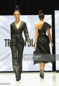 walks the runway at the Fashion & Beauty @ BETX sponsored by Progressive fashion show during the 2016 BET Experience on June 26, 2016 in Los Angeles, California.